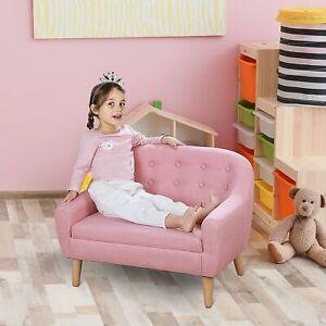 Kids Mini Sofa Children Armchair Seating Chair Bedroom Playroom Furniture Pink