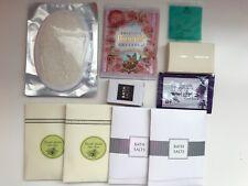 Lot 10~New Variety BATH SALT~JAPAN BISON ROSE OIL+Lavender Soak+Loofah Spa SCRUB