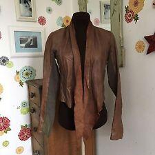 All Saints Spitalfields Leather Suede Shawl Collar Jacket, Brown Leather Blazer