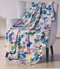 Plush Throw Floral Cozy & Soft Throw Blanket Oversized 50�x70� Nwt