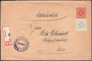 WURTTEMBERG, 1921. Official Envelope DU, Oehringen