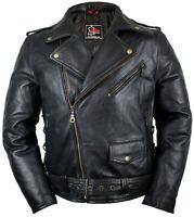 Motorrad Chopper Lederjacke Jacke Rockerjacke Clubjacke Bikerjacke 90´s Jahre