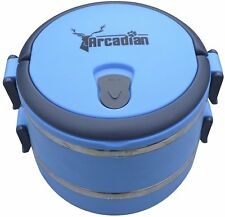 Compact Dog Travel Food and Water Bowl Set by Arcadian - Food Grade Quality.