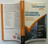 Checkpoints    VCE    FURTHER MATHEMATICS    2015