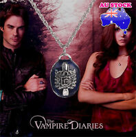 Retro Girl The Vampire Diaries Katherine Anti-sunlight Letter Pendant Necklace