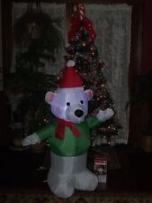 CHRISTMAS OUTDOOR AIRBLOWN INFLATABLE SANTA'S HELPER ELF POLAR BEAR FIGURE LIGHT