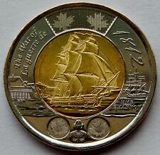 """2012 Canada """"War of 1812"""" HMS Shannon 2 Dollar Coin BU Uncirculated  SB183"""