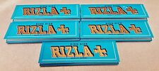 5 Packs RIZLA King Size Blue Weight Cigarette Rolling Papers 32 Leaves Per Pack