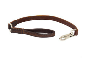 New Dog HAND-CRAFTED Brown Leather Premium Leash Lead Training Long Clip UK