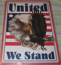 United We Stand Tin Metal Sign Man Cave Garage Wall Decor