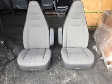 97+ CHEVY GMC EXPRESS SAVANNA VAN BUCKET SEATS CHAIRS GREY CLOTH DRIVER PASS