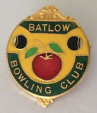 Batlow Bowling Club Badge Apple Design Rare Vintage (K10)