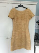 Tweed jaegar dress in gold great condition size 8