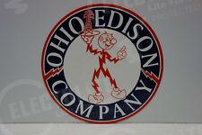 "Reddy Kilowatt NEW 12"" OHIO EDISON DIE CUT HEAVY-THICK ELECTRICIAN GIFT SIGN"