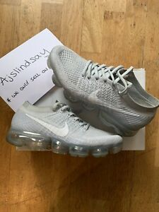 NIKE AIR VAPORMAX FLYKNIT PURE PLATINUM WOLF GREY UK6.5 US7.5 100% AUTHENTIC