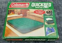 Coleman Camping Quickbed Queen Size Air Mattress Flocked Heavy Duty - Brand New