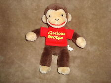 "Curious George Monkey Plush 1990 Gund Margret Rey 8"" tall"