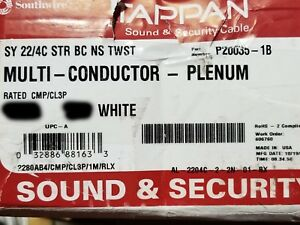 Southwire/Tappan 22/4C Stranded Security/Control Cable Plenum White /100ft