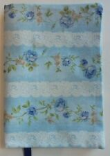 Fabric Paperback Book Cover Flower Fabric Blue Floral Print Fabric