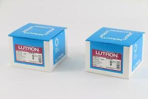 Lot of 2 Lutron Nova NT-6PF-GR Six Port Frame Matte Grey