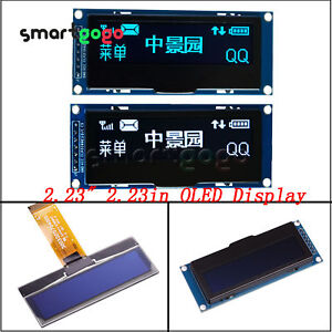 2.23 inch White/Blue OLED Screen Display 3-5.5V For Arduino STM32 BSG
