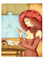 Lithographie Sophie Busson La tache d'encre Edition originale justifiée signée