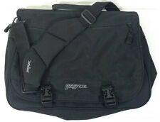 JANSPORT Black Messenger Shoulder Bag Laptop Computer Bag Office