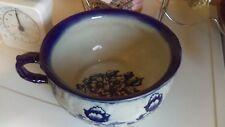 Vintage China Chamber Pot Planter Blue&White Floral Design