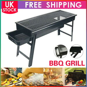 BBQ Barbecue Black Grill Folding Light Outdoor Portable Charcoal Travel Picnic