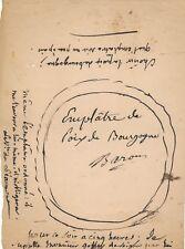 médecine ordonnance signée 1849 avec DESSIN François Baron emplatre