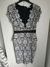 M&S Midi Dress With Slimming Lining Size 12