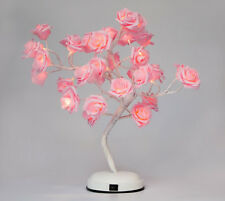 LED Rose Flower Light Tree Bonsai Desk Table Lamp for Home Christmas Decor Pink