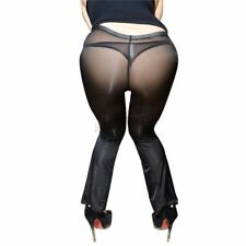 Women/Lady See Through Trousers Pants Transparent Sheer Skinny Fitness Leggings