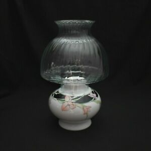 Vintage Wicks N Sticks Fiona Black Taper Candle Holder with Hurricane Topper