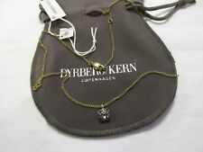 dyrberg kern necklace  rectangular  pendant with hematite settings