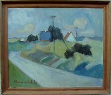 Arnold William Pedersen 1912-1986, Sommerlandschaft mit blauem Dach, um 1950/60