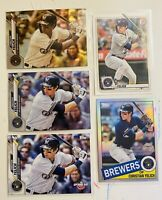 christian yelich Lot Sepia Refractor Topps Chrome Milwaukee Brewers Optic 11