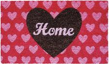 Vintage HOME Heart Herzchen Kokosfaser Fussmatte / TÜRMATTE Rockabilly