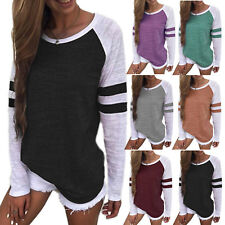 Women Long Sleeve Casual T-shirt Crew Neck Sweatshirt Blouse Top Shirt Plus Size