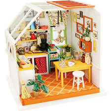 DIY Wooden Delicious Kitchen 3D Dollhouse With Furniture Kit Light Creative Gift
