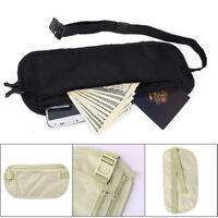 Travel Pouch Hidden Zipper Waist Belt Bag Compact Security Money Running Sport