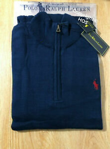 Quarter Zip /Half Zip 100% Cotton Ralph Lauren High Neck Jumper Sweatshirt