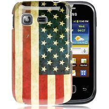 HardCase Schutzhülle für Samsung S5300 Galaxy Pocket Retro Flagge Amerika