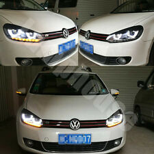 LED Headlights For VW VOLKSWAGEN GOLF 6 MK6 2009-2012 UU Type DRL Lightbar