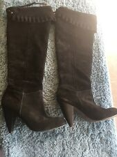 BC BG Suede Tall Black Heel Boots BC BG Generation Size 9