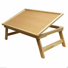 Portable Tilt Bamboo Laptop Notebook Computer Desk Bed Tray Stand Foldable Table