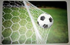 Schreibtischunterlage Ball im Netz / Fußball im Tor 40x60 cm abwischbar 2. Wahl