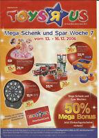 Spielzeugkatalog Toys R Us 2006 Lego Playmobil Mattel Revell Nikko MB kein Vedes
