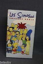 "LOS SIMPSON - EMPAQUE DOBLE - VHS ""Spanish"" 1998 2 VHS Collectibles NIB"