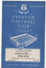 England v Poland at Goodison Park 05/01/1966